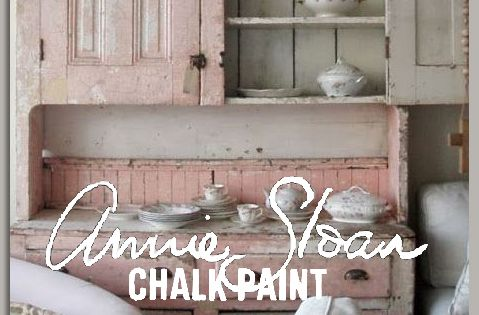 Vintage painted cupboard. NOT painted with AS Chalk Paint. These are suggested