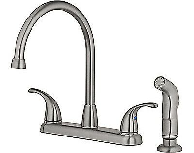 Homewerks Worldwide Llc High Arc Kitchen Faucet With Spray Brushed