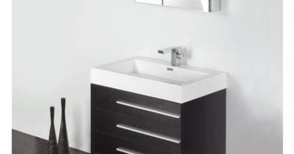 Fresca Livello 30 Inch Black Modern Bathroom Vanity With Medicine Cabinet Fvn8030bw Home