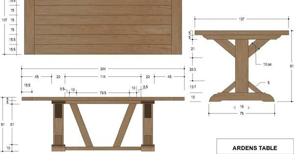 French Country Furniture Direct Arden X Trestle Table Dimensions Woodworking Projects