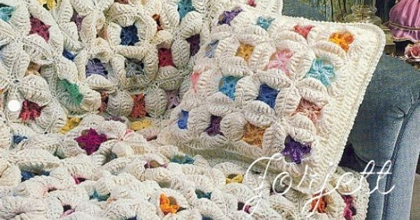 Free Crochet Pattern For Cathedral Window Afghan : Cathedral Window Quilt Afghan, Annies crochet pattern ...