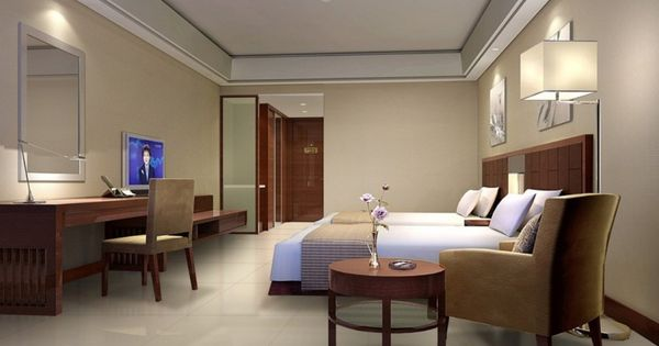 Fantastic hotel room interior in chic decoration lets you for Minimalist hotel room design