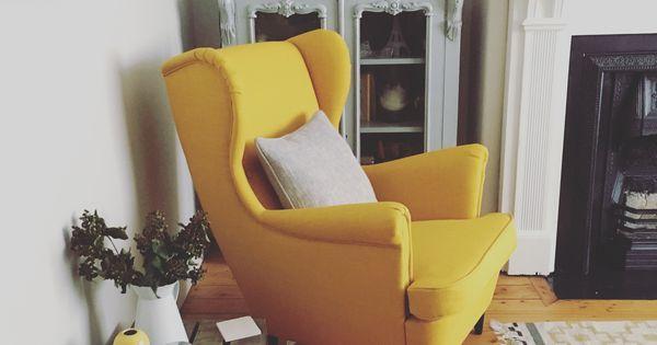 Strandmon chair ikea love this yellow beauty living for Ohrensessel senfgelb