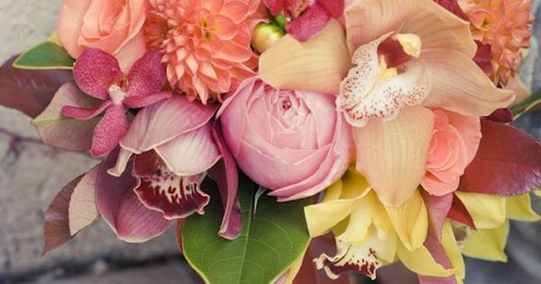 Niagara Winery Wedding // Orange Fire Bridesmaids Bouquet