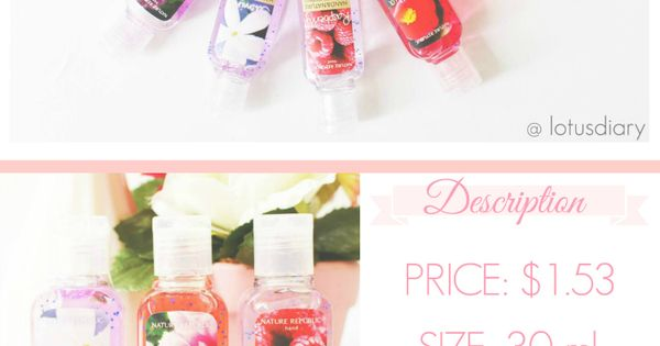 Review Nature Republic Hand Sanitizer Bath Body Works