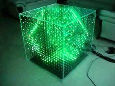 Un Cube A Led 16x16x16 Fait Avec Des Leds Et Un Adueno 3d Led Rgb Cube 16x16x16 B Led Arduino Electronics Projects Cubes