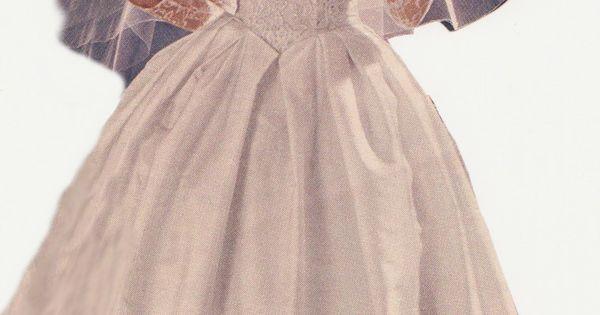 Vintage Wedding Dresses 50s 60s: Vintage 60s Montgomery Ward Catalog Wedding Dress.
