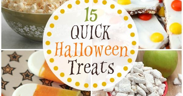 15 quick halloween treats a roundup of awesome halloween for Quick and easy halloween treats to make
