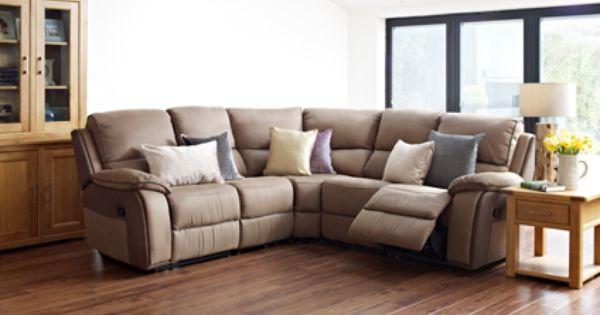 Holden Large Corner Group With Manual Recliner Actions Media Tray Living Room Furniture Harveys Sofa Shop Corner Sofa Uk Living Room Decor