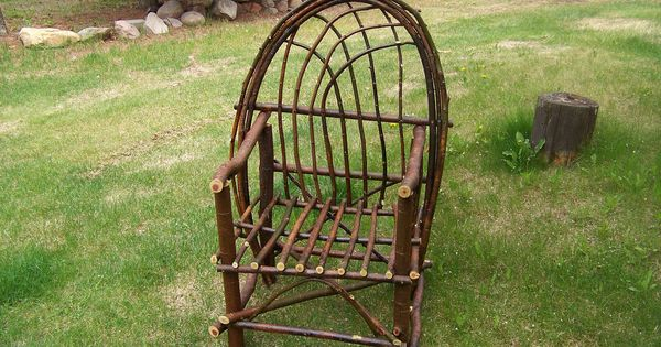 Bent Willow Chair Twigs And Branches Rustic Furniture Pinterest Chairs