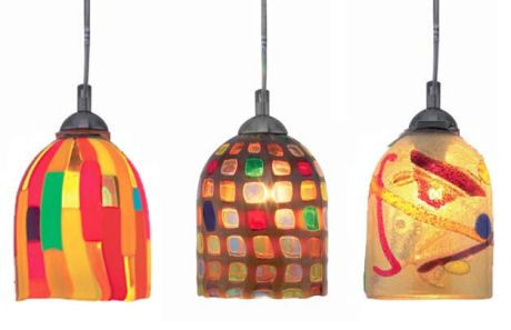 A Fun And Easy Way To Add A Splash Of Color To Your Home Is With A Modern Pendant From O Glass Pendant Light Mercury Glass Pendant Light Colorful Pendant Light
