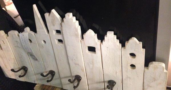 Grachtenpandjes kapstok steigerhout hall deco pinterest kapstok huisjes en gouden eeuw - Deco hoofdslaapkamer ...