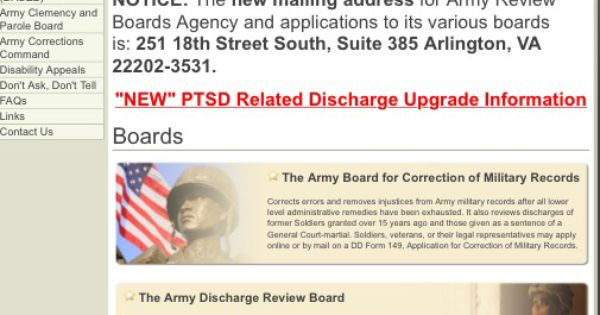 New Ptsd Related Discharge Upgrade Information From The Army