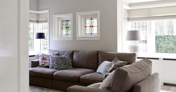 Landelijk moderne woonkamer met vouwgordijnen van zonnelux foto anneke gambon stijlvol - Afbeelding eigentijdse woonkamer ...