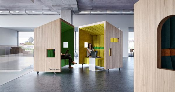 Dymitr Malcew Designs Office Breakout Seating Inspired By Treehouses ///  Dymitr Malcew, An Architect Based In Singapore, Has Designed A Collection U2026