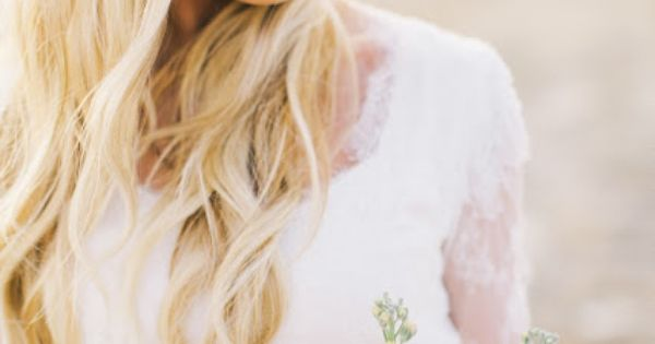 Wedding hair- with flower crown.