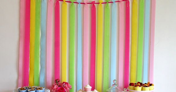 Simple crepe paper party background