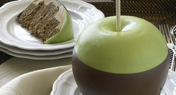 Caramel apple CAKE. I thought is were candy apple!