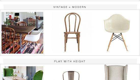 The dining chairs mix match guide. The odd one out would drive