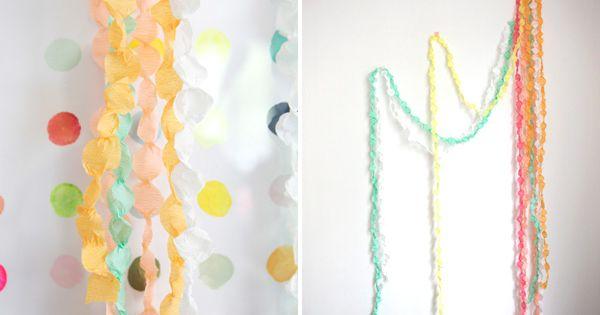 DIY Wedding Idea: Paperdot Garland Bridal Shower Idea Recipes