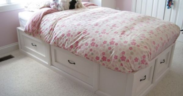 Pretty In Pink Pottery Barn Knock Off Bed The Reveal Diy Storage Bed Twin Storage Bed Queen Size Storage Bed