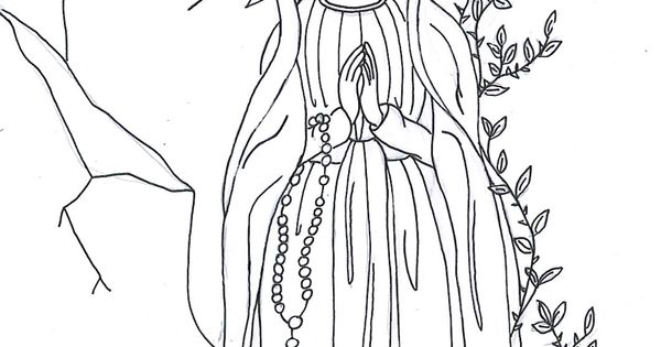 blessed virgin mary coloring pages - photo#26