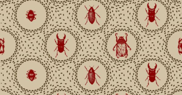 Beetle Pattern by Holly Trill motif insectes