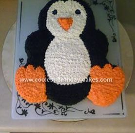 Admirable Coolest Penguin Cake With Images Penguin Cakes Penguin Personalised Birthday Cards Cominlily Jamesorg