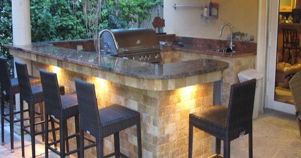 outdoor kitchen, lighting