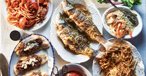 Feast of Seven Fishes - Traditional Christmas Eve dinner in Italy Italian