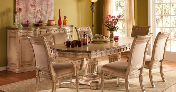 Amazing Empire Dining Set | Treat Your Dining Room To The Breathtaking Beauty Of  Traditional Design With This 7 Piece Dining Set. | Ideas For New Home |  Pinterest ...