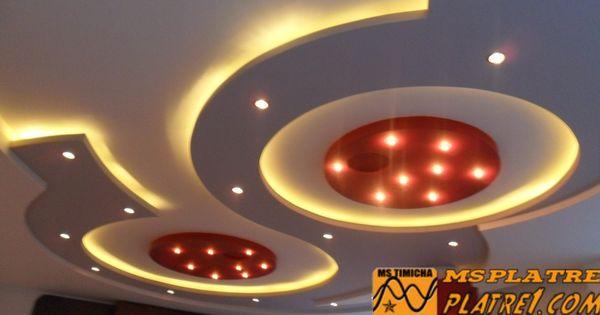 Image faux plafond platre soci t d coration ms timicha for Decoration plafond platre