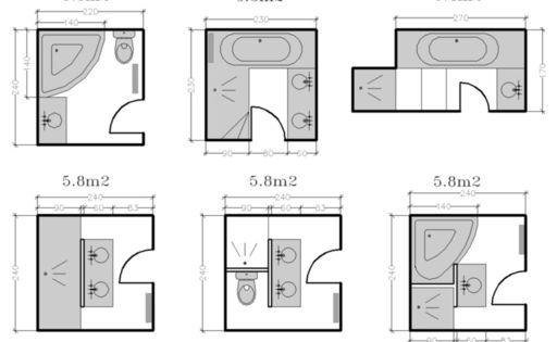 les salles de bains de taille moyenne 4 5 6 m les salles de bain la salle et moyenne. Black Bedroom Furniture Sets. Home Design Ideas