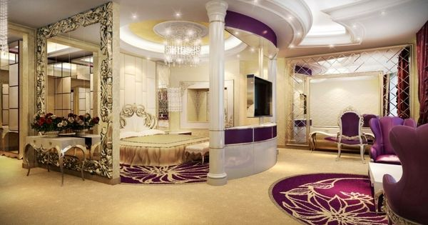 32 Stunning Luxury Master Bedroom Designs Photo Collection: Luxurious Dream Home Master Bedroom Suite Seating Mansion