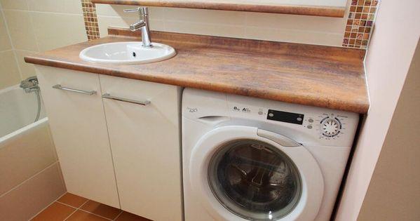 plus simple et plus pratique le lave linge sous le meuble de salle de bains atlantic bain