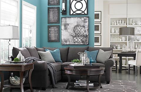 Nice accent wall color would go great with my grey color scheme