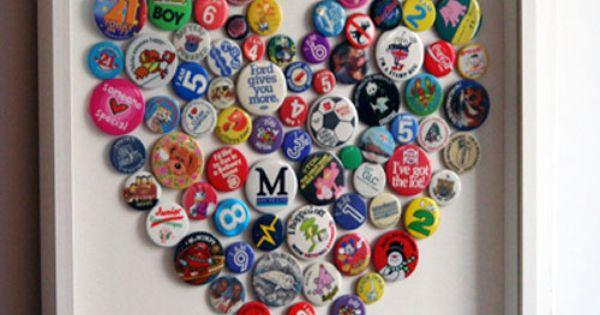DIY   bottle-cap art   DIY bottlecaps heart art gifts