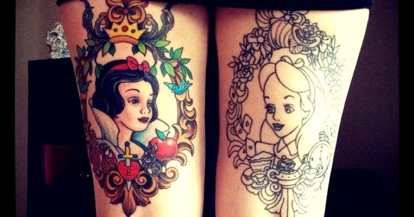 thigh tattoo... Disney Princess!