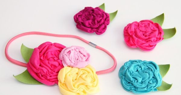 DIY flower hair clips