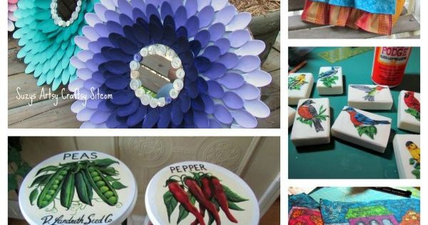 mirror and plastic spoons http://suzyssitcom.com/2013/03/five-colorful-spring-craft-tutorials.html