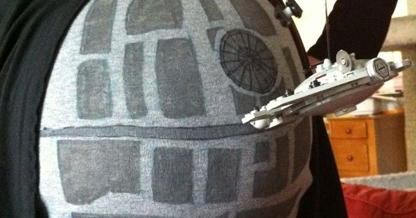 For my fellow star wars fans - death star pregnant belly costume
