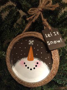 Mason Jar Ring Snowman Holiday Ornament Xmas Crafts Christmas Crafts Christmas Ornaments