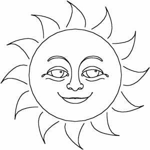 Smiling Sun Sun Coloring Pages Star Coloring Pages Coloring Pages