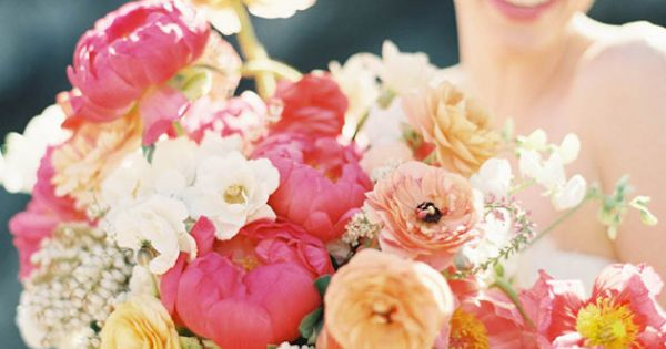 Spring bridal bouquet | photo by Jen Huang | 100 Layer Cake