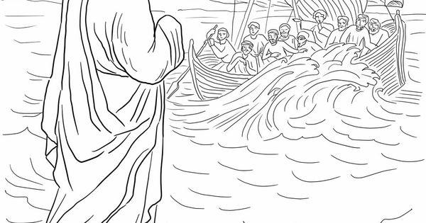 Jesus Walks On Water Preschool Jesus Walking On The