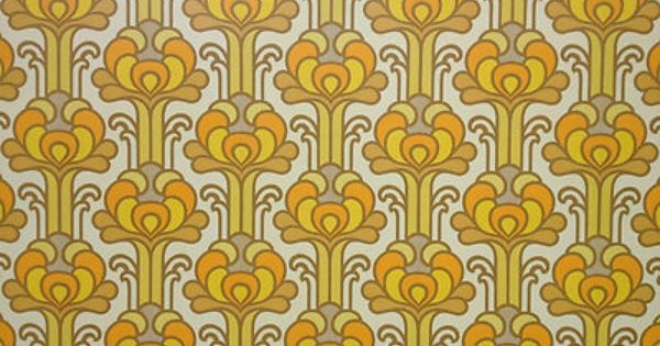 D tails sur vintage original papier peint pop art 50 s 60 s 70 s r tro eames - Papier peint sixties ...