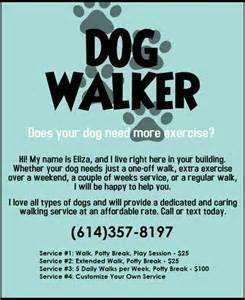 Dog Walker Dog Trainer Flyer Bing Images Dogwalking Dog