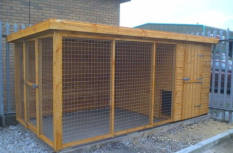 Large Dog Kennel Keep Dog In A Safe Building A Dog Kennel Dog Kennel And Run Insulated Dog House
