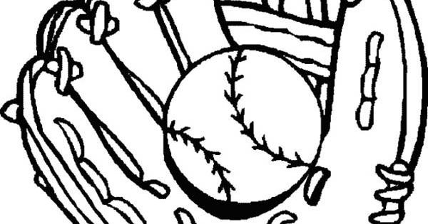 Baseball mitt coloring pages for Baseball mitt coloring page