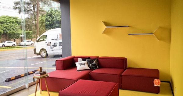 trendy red sofa from the carmo line boconcept. Black Bedroom Furniture Sets. Home Design Ideas